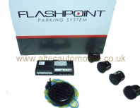FLASHPOINT by LASERLINE <br>European made 4 head parking / reversing sensor kit<br>ALT/FLASHPOINT4-04